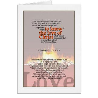 Know God's Love - Ephesians 3:17, 18 & 19 Card