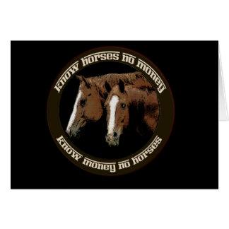 Know Horses No Money Card