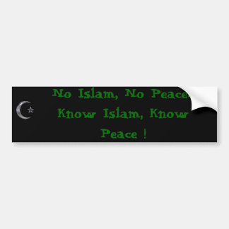 Know Islam Bumper sticker