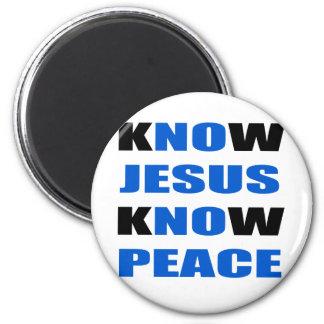 kNOw Jesus kNOw Peace 6 Cm Round Magnet