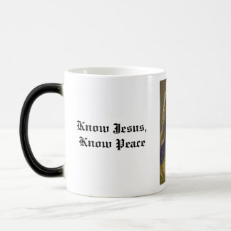 Know Jesus, Know Peace Magic Mug