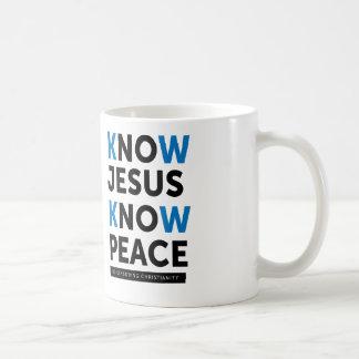 Know Jesus Know Peace, No Censorship Coffee Mug