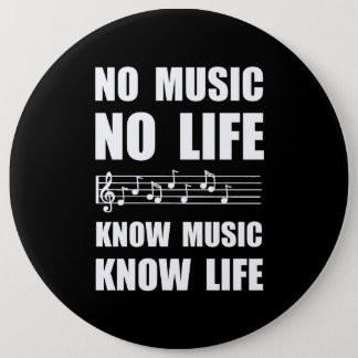 Know Music Know Life 6 Cm Round Badge