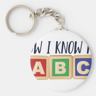Know My ABC Basic Round Button Key Ring