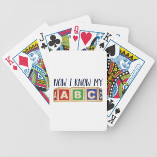 Know My ABC Bicycle Playing Cards