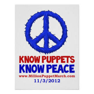 Know Puppets, Know Peace Poster