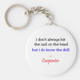 Know the Drill Keychain