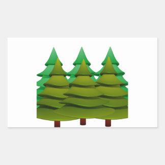 KNOW THE FOREST RECTANGULAR STICKER