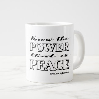 Know the power that is peace mug