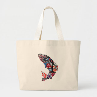 KNOW THE WATERS LARGE TOTE BAG