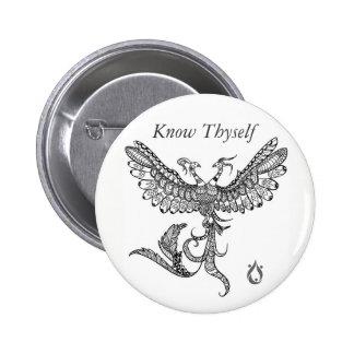 Know Thyself Phoenix Button