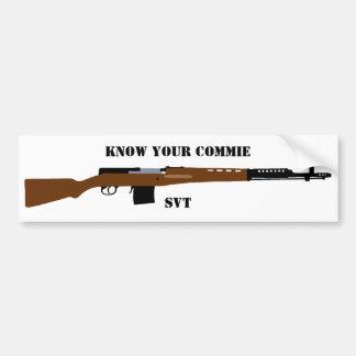 Know Your commie SVT Bumper sticker Car Bumper Sticker