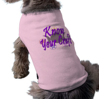 Know Your Craft Sleeveless Dog Shirt