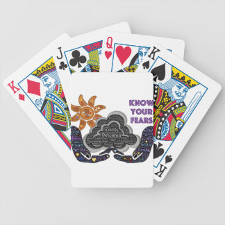 Know your fears bicycle playing cards