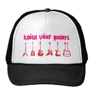 Know Your Guitar - Emo Alternative Grunge Rock Cap