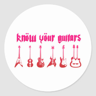 Know Your Guitar - Emo Alternative Grunge Rock Stickers