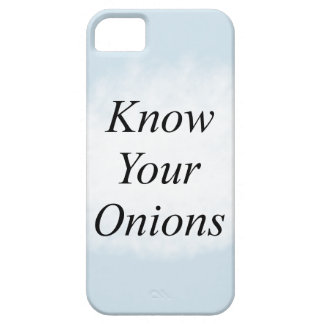 Know your Onions Barely There iPhone 5 Case