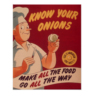 Know your onions poster
