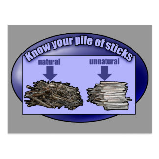 Know your pile of sticks - postcard
