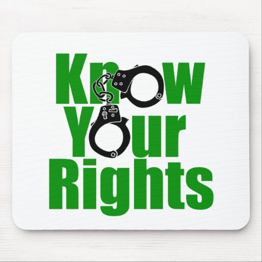 KNOW YOUR RIGHTS - police state/prison/drug war Mousepad