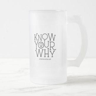Know Your Why Smarter Artist Beer Mug