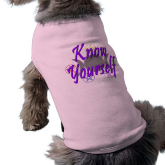 Know Yourself Sleeveless Dog Shirt