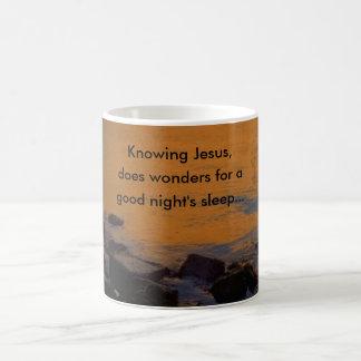 Knowing Jesus,, does wonder... Coffee Mug
