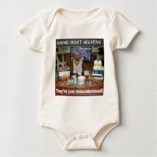 Knowledge Dog Anions aren't negative Baby Bodysuit