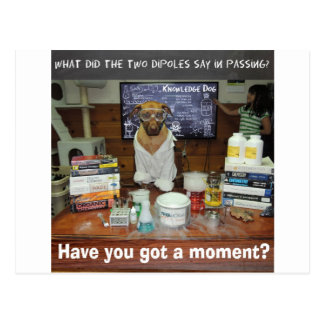 Knowledge Dog Dipole Moment Postcard