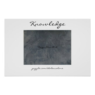 Knowledge Feng Shui Art Poster