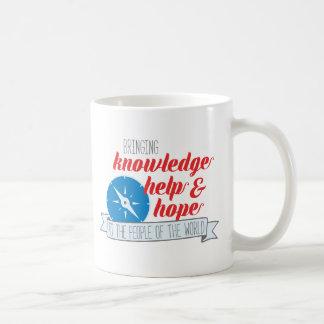 Knowledge, Help and Hope Compass Mug