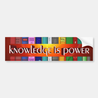 Knowledge is Power Bookscase Bumper Stickers