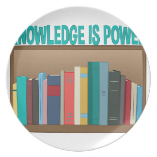 Knowledge Is Power Dinner Plates