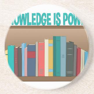 Knowledge Is Power Sandstone Coaster