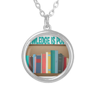 Knowledge Is Power Silver Plated Necklace