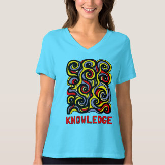 """Knowledge"" Women's Relaxed Fit V-Neck T-Shirt"