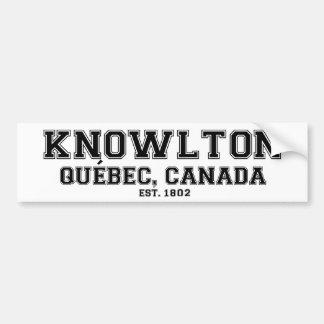Knowlton Quebec Souvenirs Bumper Sticker