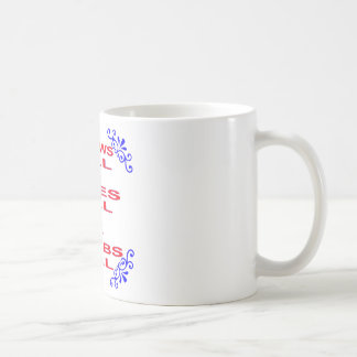 Knows All Sees All Blabs All Coffee Mug