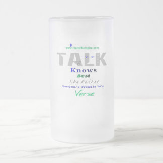 knows - glass frosted glass mug