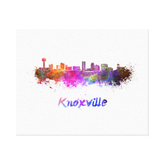 Knoxville skyline in watercolor canvas print
