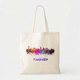Knoxville skyline in watercolor tote bag
