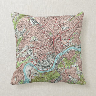 Knoxville Tennessee Map (1978) Cushion