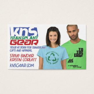 KNS Transplant Gear business card