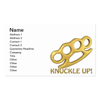 Knuckle Up Business Cards