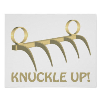 Knuckle Up Print