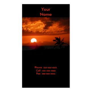 Ko Olina Sunset Business Card
