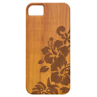 Koa Hibiscus Hawaii Island Print iPhone 5 Covers