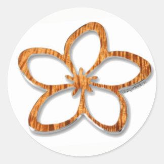 Koa Plumeria (Frangipani) Sticker