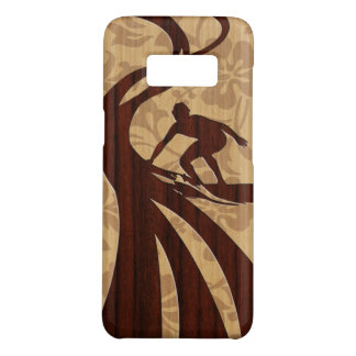 Koa Wood Surfer Faux Wood Surfboard Case-Mate Samsung Galaxy S8 Case