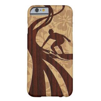 Koa Wood Surfer Surfboard iPhone 6 case